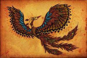 Simurg, Zümrüdüanka, Anka ya da Phoenix adlarıyla bilinen efsanevi kuş.